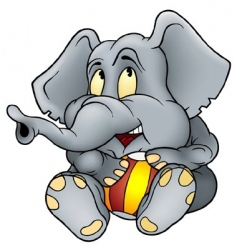 elephant and ball vector image
