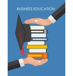 Helping Hand Business Education Concept Trends vector image