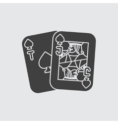 Playing cards icon vector image