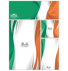 abstract ireland flag background vector image