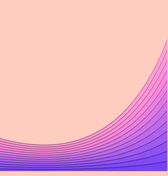 Background from curved stripe layers - poster vector