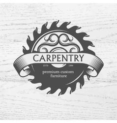 Carpenter design element in vintage style vector image vector image