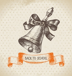 Hand drawn back to school vintage background vector image vector image