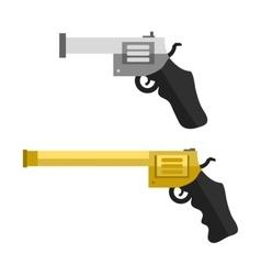 Weapons handguns vector image