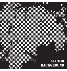 Abstract checkered grunge background pattern vector image