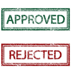 Approved Rejected vector image vector image