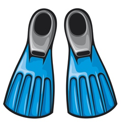 blue flippers vector image vector image