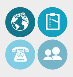Call center service communication vector