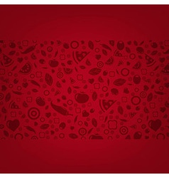 Dark Red Background With Food Icons vector image vector image