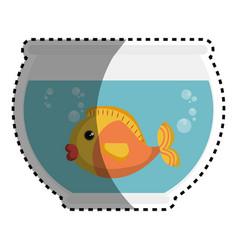 fish in aquarium pet vector image