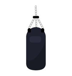 punching bag training gym icon vector image