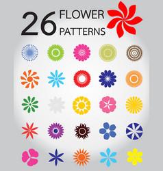 26 flower pattern vector image