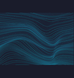 abstract 3d glowing blue wave lines pattern vector image