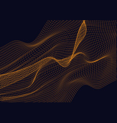 abstract design element with orange waves vector image
