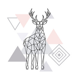 abstract polygonal deer geometric hipster vector image