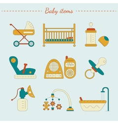 Baby care items vector