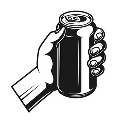 beer bank in male hand template vector image