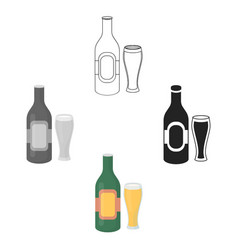 beer icon in cartoonblack style isolated on white vector image
