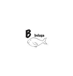beluga coloring page vector image