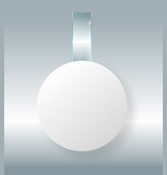 Blank white wobbler hang on wall mock up 3d vector