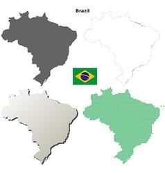 Brazil outline map set vector