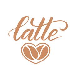 Brush calligraphy latte vector