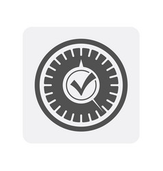 Car diagnostics icon with speedometer element vector