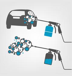 Car wash image vector