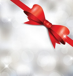 Christmas ribbon background vector image