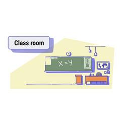class room interior empty school classroom with vector image