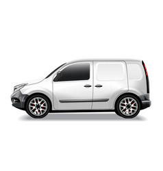 Commercial car delivery cargo van mockup vector