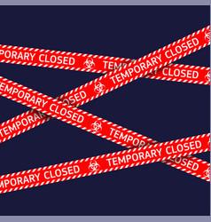 coronavirus quarantine red warning type vector image