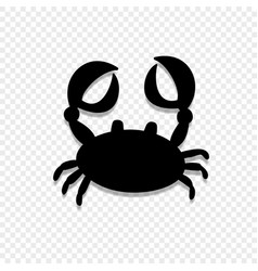 crab or cancer icon isolated on transparent vector image