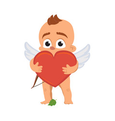 cupid angel love character for valentine day or vector image