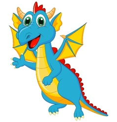 Cute dragon cartoon vector