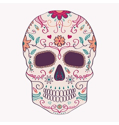 day dead skull with ornament vector image