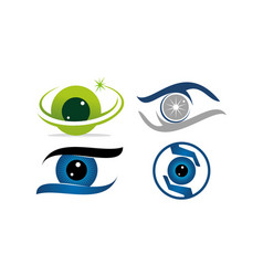 eye care template set vector image