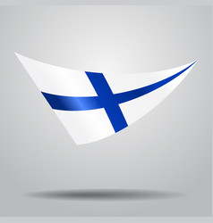 finnish flag background vector image