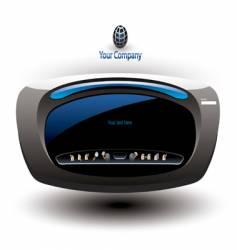 Futuristic website interface vector