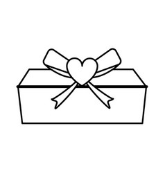 Gift box love valentines day related icon icon vector