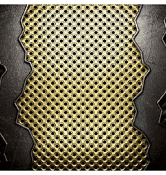 golden and silver background vector image