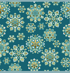 green and gold christmas seamless pattern vector image