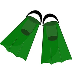 Green flippers vector image