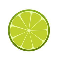 Green lime icon citrus refreshing drink vector