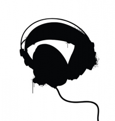 Headphones silhouette vector