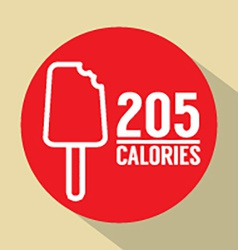 Ice Cream Stick 205 Calories Symbol vector
