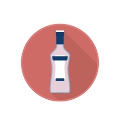 icon of alcohol bottle with alcoholic vector image