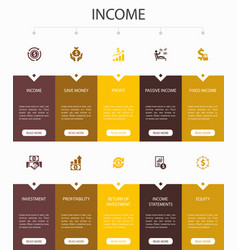 Income infographic 10 option ui designsave money vector