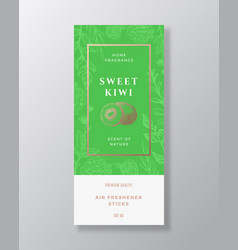 Kiwi home fragrance abstract label template vector