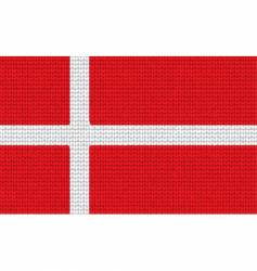 knitted Denmark flag vector image